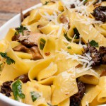 Italian Food - Papardelle with mushrooms and peppers - Photo credit rnesto Andrade