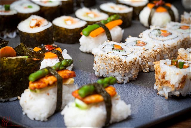 Sushi - Photo credit Yannig Van de Wouwer
