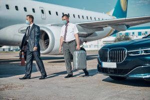 Limousine at airport